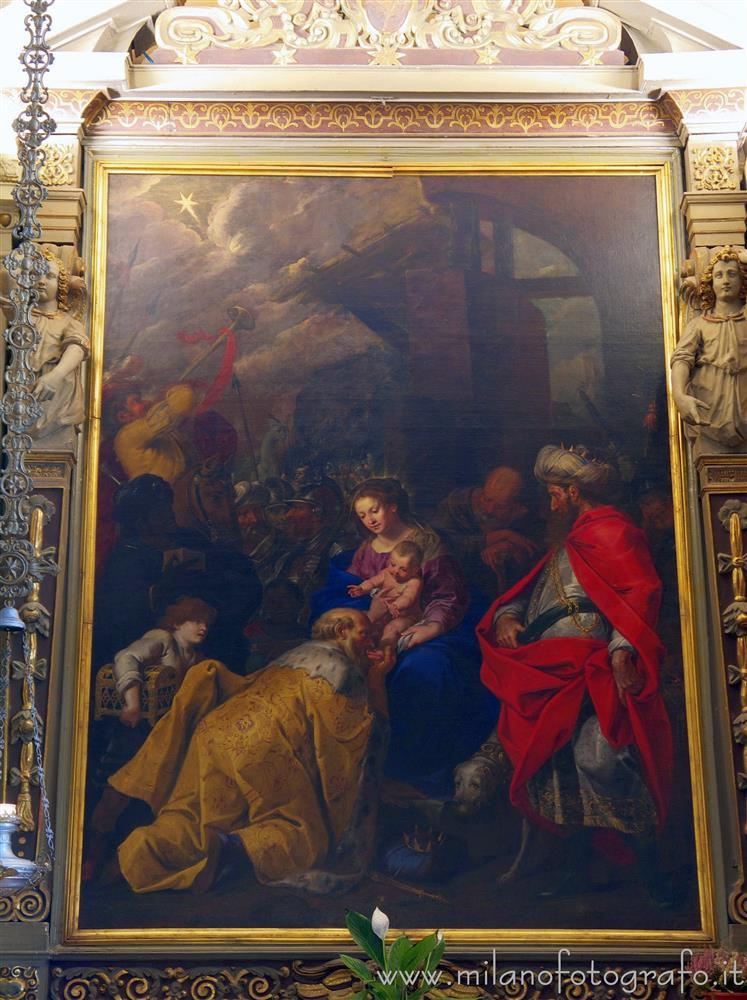 Milan (Italy) - Adoration of the Magi by Johann Christofer Storer in the Church of San Giovanni Battista in Trenno